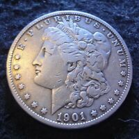1901-S MORGAN SILVER DOLLAR - SOLID VF DETAILS FROM THE SAN FRANCISCO MINT