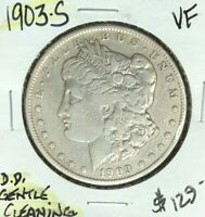 1903-S MORGAN SILVER DOLLAR  VF  GENTLE CLEANING  COIN REF D/D