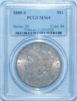 1889 S/S PCGS MINT STATE 64 VAM-12 DOUBLED 9 INSIDE LOOP MORGAN SILVER DOLLAR