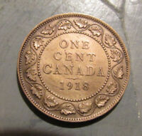 1918 CANADIAN LARGE CENT VERY NICE COIN