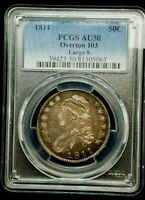 1811 CAPPED BUST HALF _ PCGS AU 50 _ NO PROBLEMS HERE