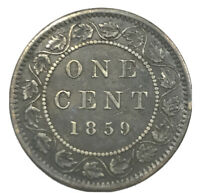1859 CANADA LARGE CENT   ONE 1 CENT COIN