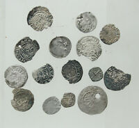 LOT OF 15X MEDIEVAL AR COINS  15 16CENTURY  A.D.  D 8 16MM