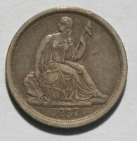 1837 LIBERTY SEATED DIME   VAR 1 NO STARS   UNSLABBED UNGRAD