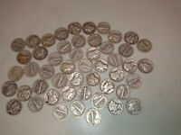 ROLL OF 50 CIRCULATED MERCURY DIMES SOME VERY GOOD 90  SILVE