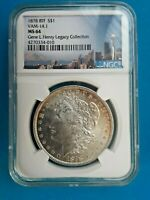 1878 8TF VAM 14.1  NGC MINT STATE 64 MORGAN SILVER DOLLAR - GENE HENRY LEGACY COLLECTION