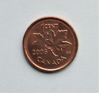 2006 CANADIAN SMALL CENT NO LOGO NO P MAGNETIC