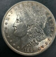 1889 S MORGAN DOLLAR SILVER $1 UNCIRCULATED BU MS KEY DATE ORIGINAL SEMI PL REV