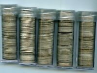 FIVE ROLLS OF SILVER MERCURY DIMES NEVER SEARCHED BY ME LOTS