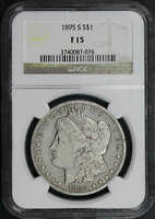1895-S MORGAN DOLLAR NGC F-15