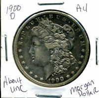 1900 O AU MORGAN DOLLAR 100 CENT  ABOUT UNCIRCULATED 90 SILVER US $1 COIN 1139