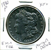 1890 P EXTRA FINE  MORGAN DOLLAR 100 CENT  EXTRA FINE 90  OLD SILVER US$1 COIN 1448