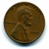 LINCOLN HEAD WHEAT CENT 1945 P COPPER CIRCULATED UNITED STATES 1 PENNY COIN1631