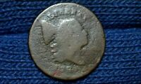 1795 HALF CENT  PUNCTUATED DATE  WITH POLE  LETTERED EDGE  C2-A  R3