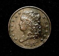 1834 CLASSIC HEAD HALF CENT OLD U.S. TYPE COIN