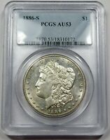 1886-S PCGS AU53 MORGAN SILVER DOLLAR $1 US COIN ITEM 26252B