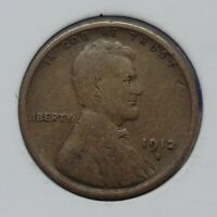 1912 S LINCOLN WHEAT SMALL CENT