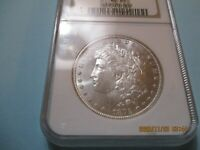 1879 S,   MORGAN SILVER DOLLAR COIN.    NGC MINT STATE 65