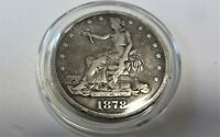 TRADE DOLLAR 1878 VERY NICE DETAILS SILVER COIN NO RESERVE.