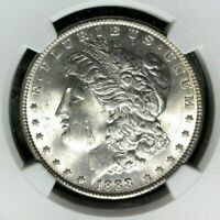 1888 MORGAN SILVER DOLLAR  NGC MINT STATE 64 BEAUTIFUL COIN REF60-009