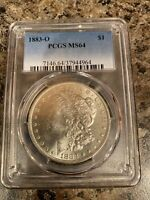 1883 0 MORGAN SILVER DOLLAR MINT STATE 64.