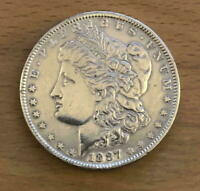 EARLY 1887-P MORGAN DOLLAR  COIN - AU/EXTRA FINE   GREAT MAN GIFT