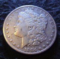 1904-S MORGAN SILVER DOLLAR - SOLID VF DETAILS FROM THE SAN FRANCISCO MINT