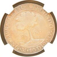 1828 NG CENTRAL AMERICAN REPUBLIC 8 REALES KM 4 SILVER COIN