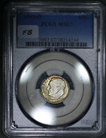 1949-D ROOSEVELT DIME 10C PCGS MINT STATE 67 - SHOULD BE FULL BANDS