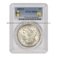 1893-O $1 SILVER MORGAN PCGS MINT STATE 64 PQ APPROVED NEW ORLEANS MINT DOLLAR COIN