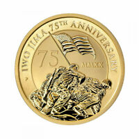 2020 P $15 IWO JIMA 75TH ANNIVERSARY 1/10OZ .9999 GOLD COIN
