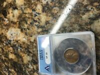 LINCOLN CENT 1909 S  FINE CERTIFIED