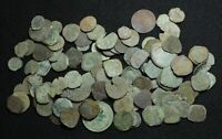 SPAIN. MIXED LOT OF 102 UNCLEANED COINS MOSTLY 1600 1700'S