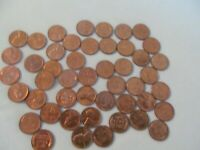 ROLL OF 47   1957  D  UNC / AU  WHEAT CENTS; LOT  AD