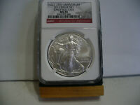 2011   SILVER  AMERICAN SILVER  EAGLE  COIN  386    MS 70  NGC  25TH.  EARLY R.