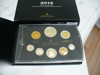 2012  CANADA PROOF SET   TOONIE  LOONIE FIFTY CENT QUARTER NICKEL DIME PENNY