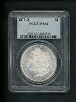 1879-O US MORGAN SILVER DOLLAR $1.00 $1 PCGS MINT STATE 64 UNC ORIG SURFACES FROSTED GEM