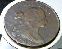 DRAPED BUST LARGE CENT, 1798, 2ND HAIR STYLE ,UNITED STATES OF AMERICA