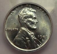 1943-S LINCOLN STEEL PENNY ICG MINT STATE 66