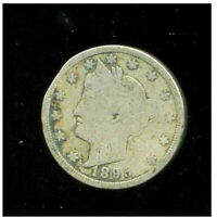 1895 P V NICKEL LIBERTY U.S 5 CENT US  OLD AMERICA VNICKEL 1  COIN 3200