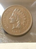 1908 INDIAN CENT EXTRA FINE   SW 956