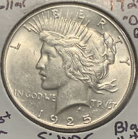 MAKE-A- $84 OFFER OBW 1925 UNC SILVER PEACE DOLLAR MS/BUMINT LUSTER GEM
