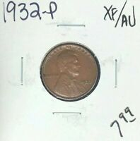 1932-P LINCOLN WHEAT CENT  EXTRA FINE /AU  COIN