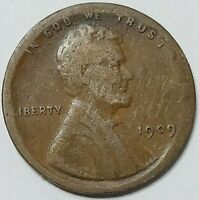 1909 PHILADELPHIA MINT LINCOLN WHEAT ONE CENT BRONZE PENNY 1  BROAD STRUCK