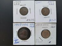 TWO CENT 1867, 1909 V.DB AND OTHER CENTS LOT 19 TOTAL