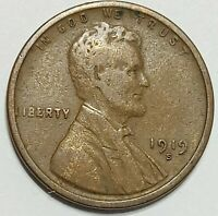 1919-S LINCOLN WHEAT ONE CENT PENNY 1. SAN FRANCISCO MINT.
