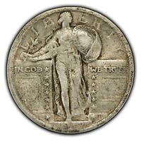 1917 TY-2 25C STANDING LIBERTY QUARTER - TYPE-2 - SOME ORIG LUSTER - SKU-Z1015