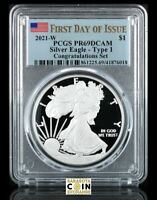 2021 W SILVER EAGLE $1 CONGRATULATIONS PCGS PR70DCAM FIRST DAY OF ISSUE