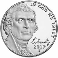 2019 S PROOF NICKEL AND P. & D YEAR SET 3 COINS