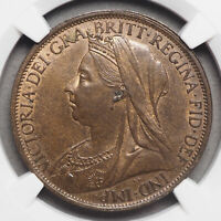 GREAT BRITAIN. QUEEN VICTORIA PENNY 1897 LOW TIDE NGC MS64 B